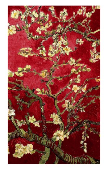 Printed Red Blossoming Almond Tree Van Gogh Apple Watch Band (44mm) Case