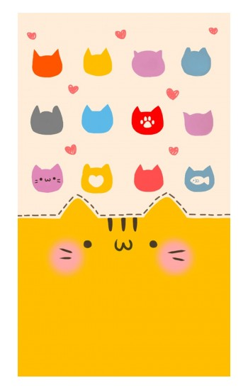 Printed Cute Cat Pattern Apple Watch Band (44mm) Case