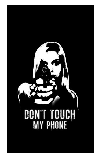 Printed Girl Do Not Touch My Phone Apple Watch Band (44mm) Case