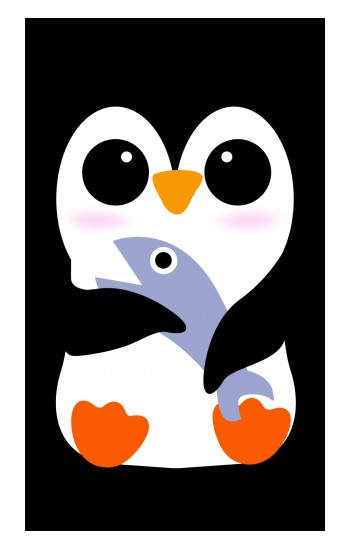 Printed Cute Baby Penguin Apple Watch Band (44mm) Case