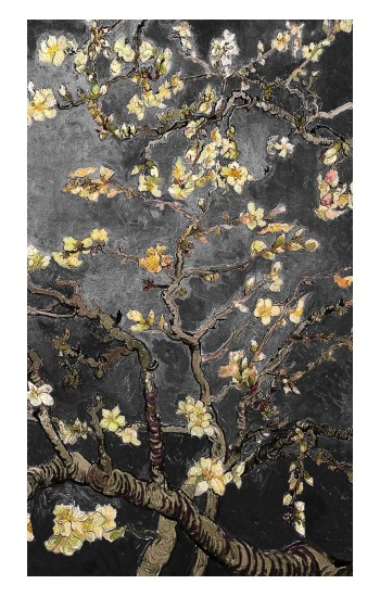 Printed Black Blossoming Almond Tree Van Gogh Apple Watch Band (44mm) Case