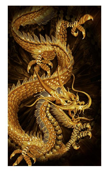 Printed Chinese Gold Dragon Printed Apple Watch Band (44mm) Case
