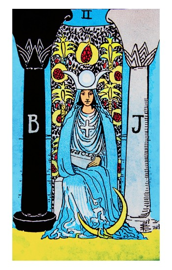 Printed The High Priestess Vintage Tarot Card Apple Watch Band (44mm) Case