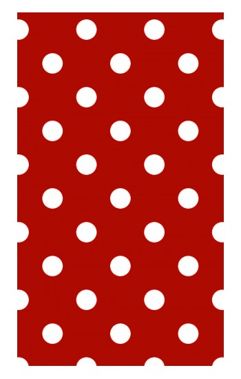 Printed Red Polka Dots Apple Watch Band (44mm) Case
