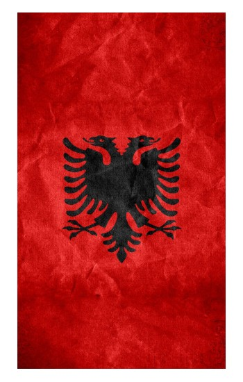 Printed Albania Red Flag Apple Watch Band (44mm) Case