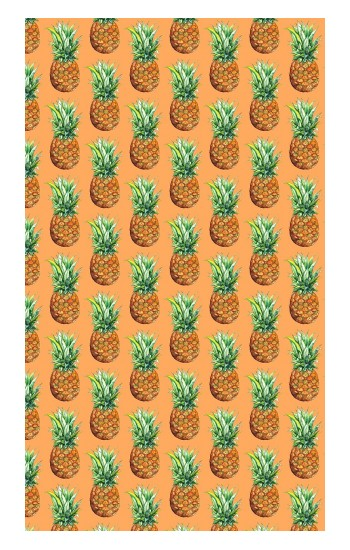 Printed Pineapple Pattern Apple Watch Band (44mm) Case