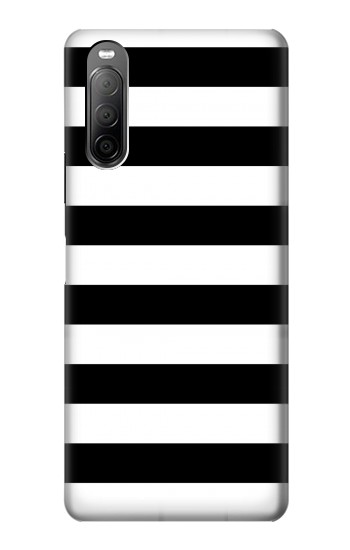 Printed Black and White Striped Sony Xperia 10 II Case