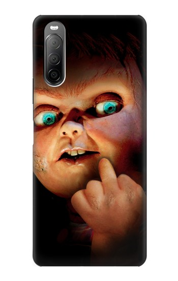 Printed Chucky Middle Finger Sony Xperia 10 II Case