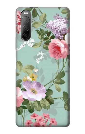 Printed Flower Floral Art Painting Sony Xperia 10 II Case
