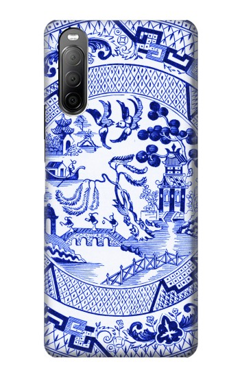 Printed Willow Pattern Illustration Sony Xperia 10 II Case
