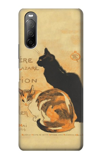 Printed Vintage Cat Poster Sony Xperia 10 II Case