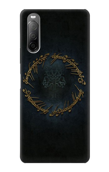 Printed Lord of The Rings Ring Elf Writing Sony Xperia 10 II Case