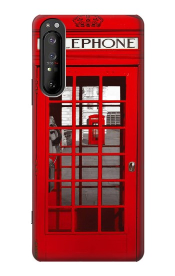Printed Classic British Red Telephone Box Sony Xperia 1 II Case