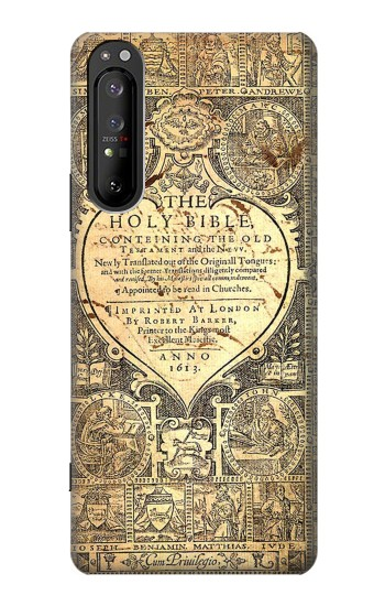 Printed Bible Page Sony Xperia 1 II Case