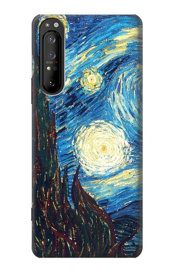 Printed Van Gogh Starry Nights Sony Xperia 1 II Case