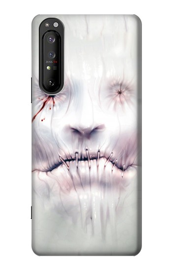 Printed Horror Face Sony Xperia 1 II Case