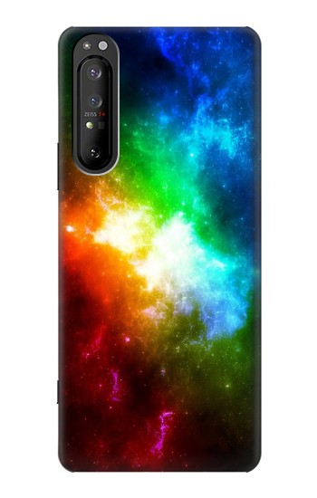 Printed Colorful Rainbow Space Galaxy Sony Xperia 1 II Case