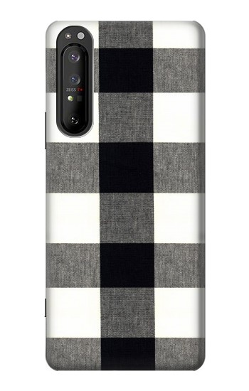 Printed Black and White Buffalo Check Pattern Sony Xperia 1 II Case