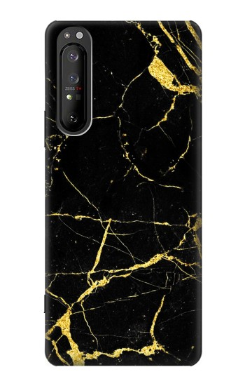 Printed Gold Marble Graphic Printed Sony Xperia 1 II Case