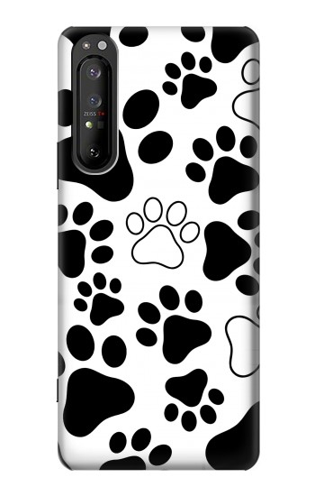 Printed Dog Paw Prints Sony Xperia 1 II Case