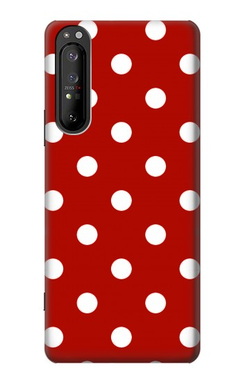Printed Red Polka Dots Sony Xperia 1 II Case