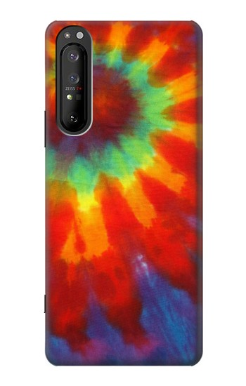 Printed Colorful Tie Dye Fabric Texture Sony Xperia 1 II Case