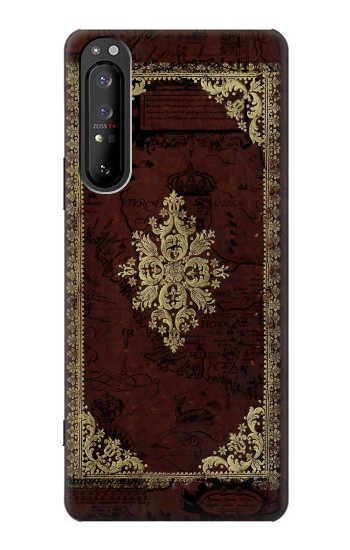 Printed Vintage Map Book Cover Sony Xperia 1 II Case
