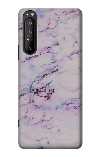 Printed Seamless Pink Marble Sony Xperia 1 II Case