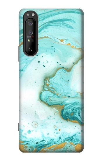 Printed Green Marble Graphic Print Sony Xperia 1 II Case