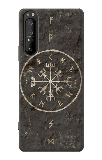 Printed Norse Ancient Viking Symbol Sony Xperia 1 II Case