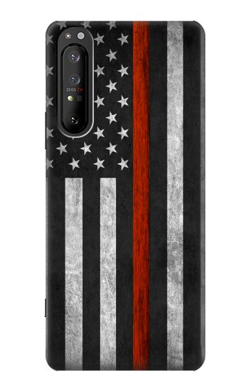 Printed Firefighter Thin Red Line Flag Sony Xperia 1 II Case