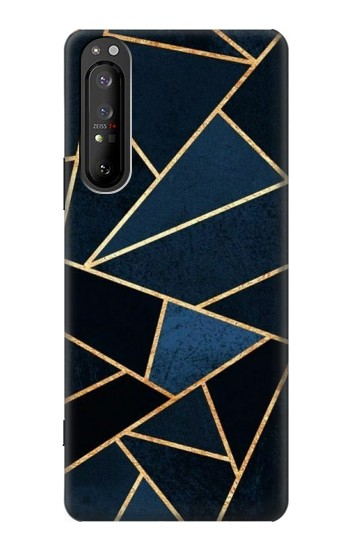 Printed Navy Blue Graphic Art Sony Xperia 1 II Case