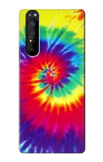 Printed Tie Dye Fabric Color Sony Xperia 1 III Case