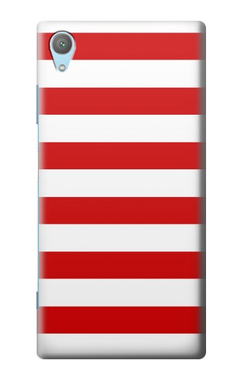 Printed Red and White Striped Huawei Enjoy 5s Case