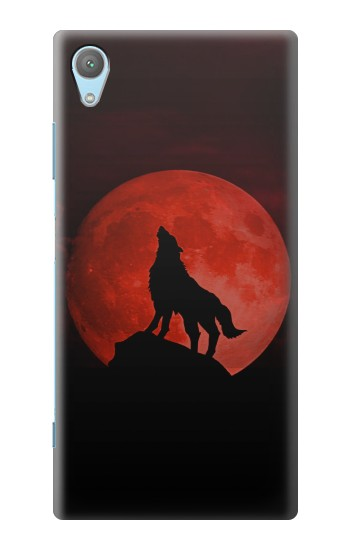Printed Wolf Howling Red Moon Huawei Enjoy 5s Case