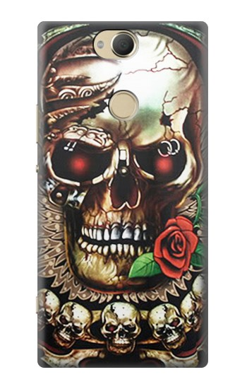 Printed Skull Wing Rose Punk Sony Xperia XA2 Plus Case