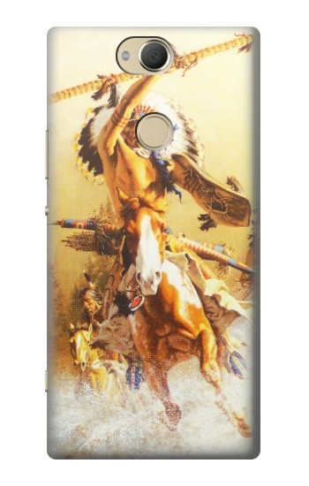 Printed Red Indian Warrior Sony Xperia XA2 Plus Case