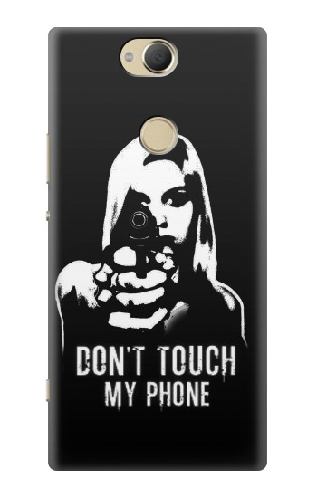 Printed Girl Do Not Touch My Phone Sony Xperia XA2 Plus Case