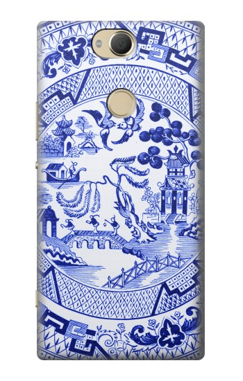Printed Willow Pattern Illustration Sony Xperia XA2 Plus Case