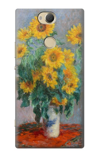 Printed Claude Monet Bouquet of Sunflowers Sony Xperia XA2 Plus Case
