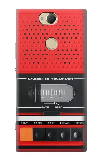 Printed Red Cassette Recorder Graphic Sony Xperia XA2 Plus Case
