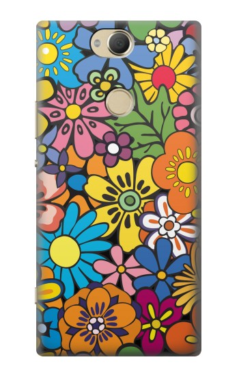 Printed Colorful Flowers Pattern Sony Xperia XA2 Plus Case