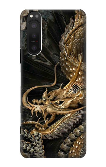 Printed Gold Dragon Sony Xperia 5 II Case