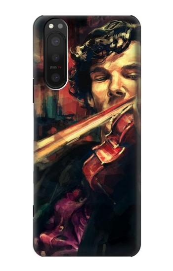Printed Violin Art Paint Sony Xperia 5 II Case