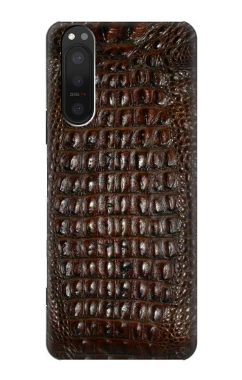 Printed Brown Skin Alligator Graphic Printed Sony Xperia 5 II Case