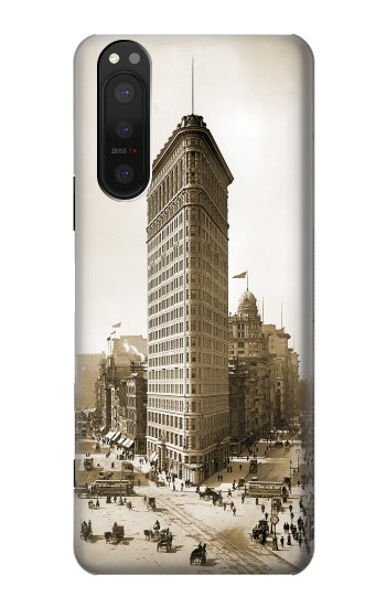 Printed Old New York Flatiron Building Sony Xperia 5 II Case
