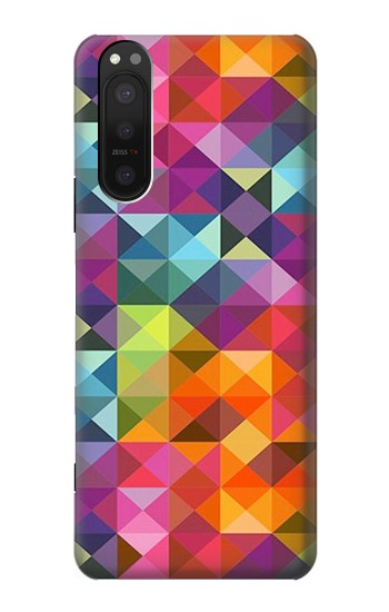 Printed Abstract Diamond Pattern Sony Xperia 5 II Case