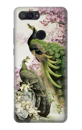 Printed Peacock Chinese Brush Painting Xiaomi Mi 8 Lite Case