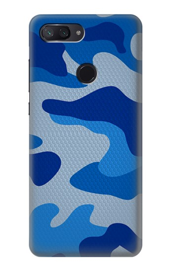Printed Army Blue Camouflage Xiaomi Mi 8 Lite Case