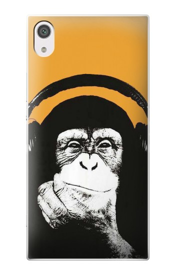 Printed Funny Monkey with Headphone Pop Music alcatel Pop 2 (5) Case
